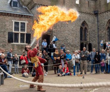 Kasteel Radboud Middeleeuws kampement Foto Pascal van As