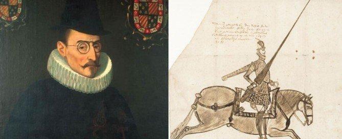 Kasteel Radboud-Diego Carrillo de Mendoza-tekening uit de collectie Regionaal Archief Alkmaar PR 1001474